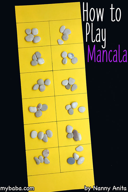 How to play mancala.  A strategy game that is fun for children and adults.