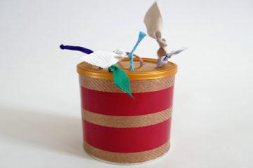 DIY ribbon pull toy