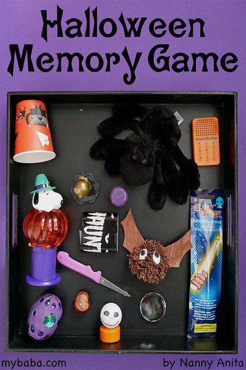 halloween memory game: a classic memory game to play at home or at a halloween party.