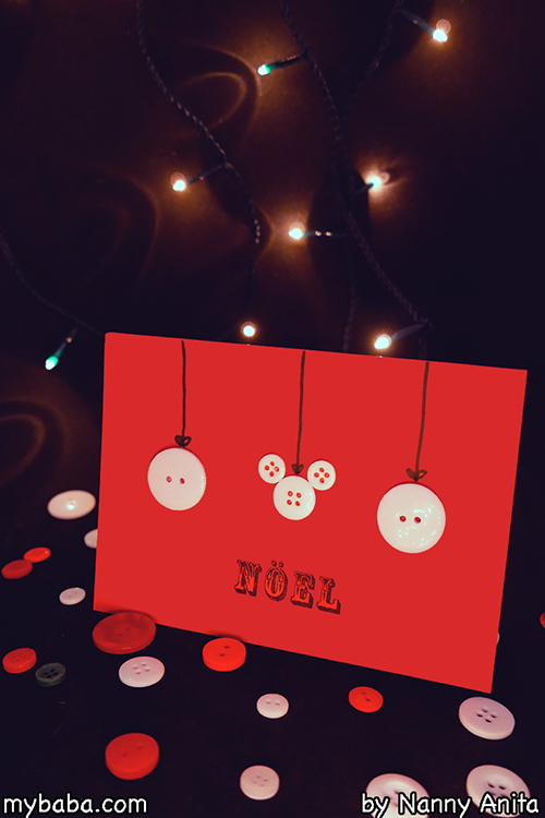 How to make a simple Button Christmas Card