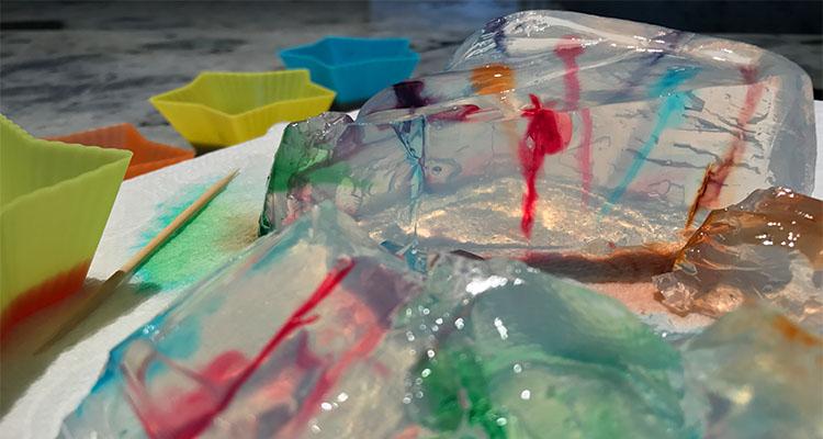 gelatine streaking: Edible art