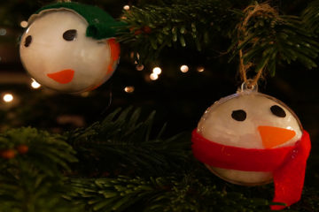 fillable snowman ornaments