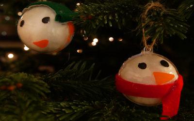 fillable snowman ornaments
