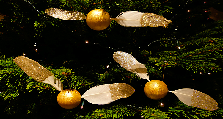 golden snitch christmas decorations
