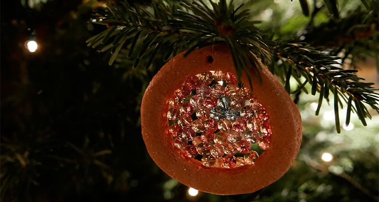 melted bead and salt dough christmas decorations