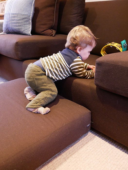 furniture obstacle course for babies