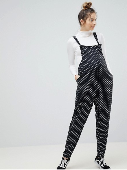 ee66a49cab696 Bluebelle Maternity Wrap Midi Dress With Tie Waist With Geometric Print  from ASOS