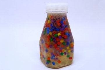 hama bead sensory bottle