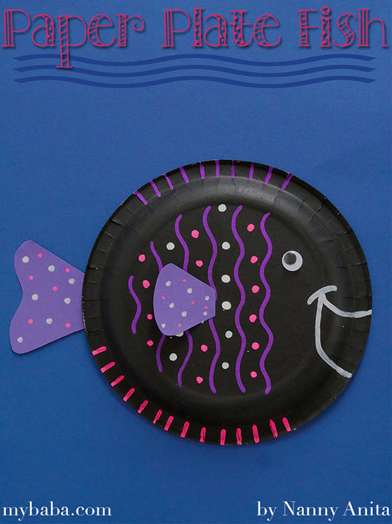 paper plate fish craft for children