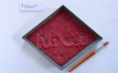 Valentine's sugar writing tray
