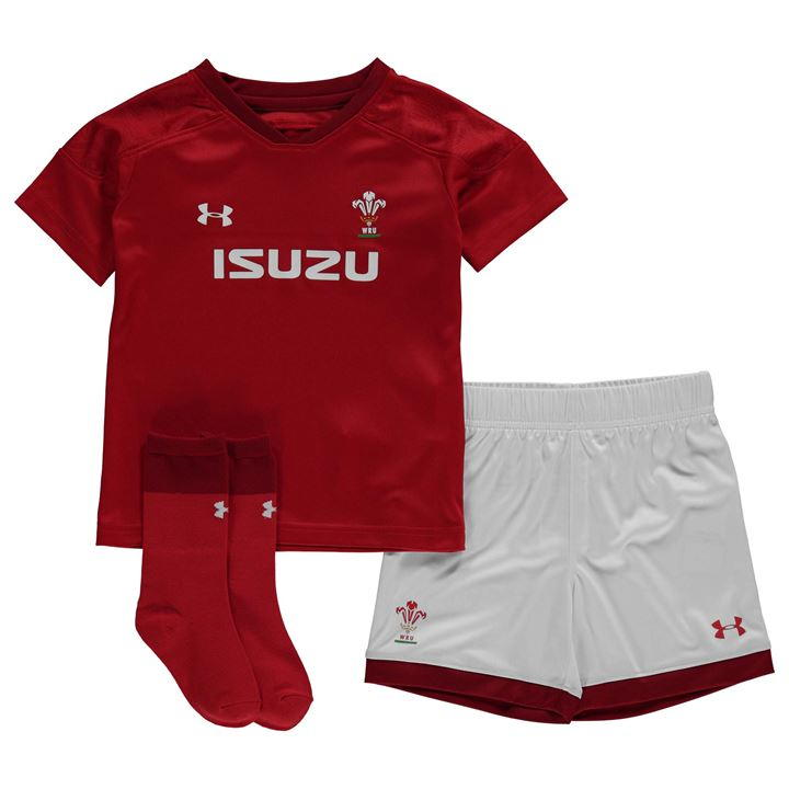b0b5fbfa6ad Under Armour Wales Home Rugby Shirt 2017 2018 Junior from Sports Direct