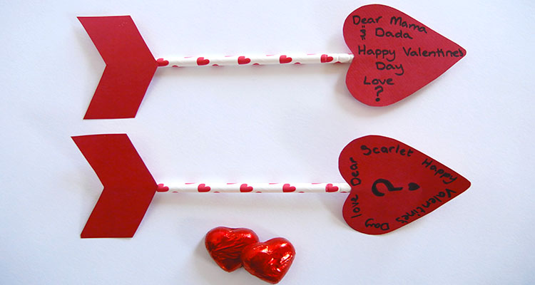 cupid's arrow valentine's cards