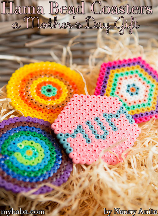 Make some beautiful Hama bead coasters as a gift for your mum this mother's day.