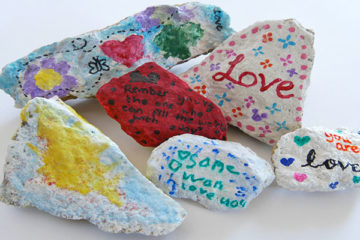 painted love rocks