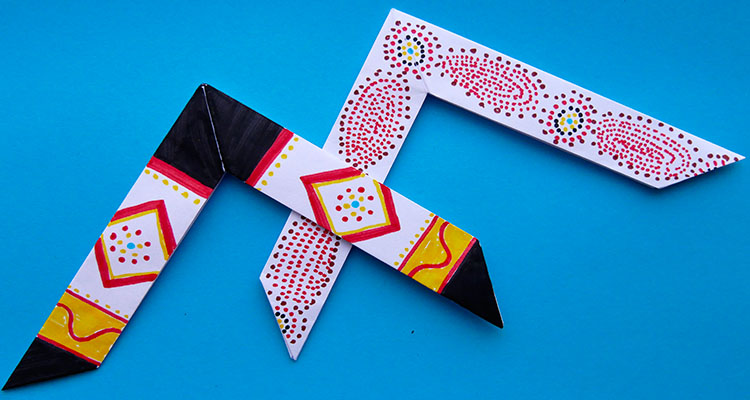 How to make a paper boomerang for Kids - #Boomerang Making Easy ... | 400x750