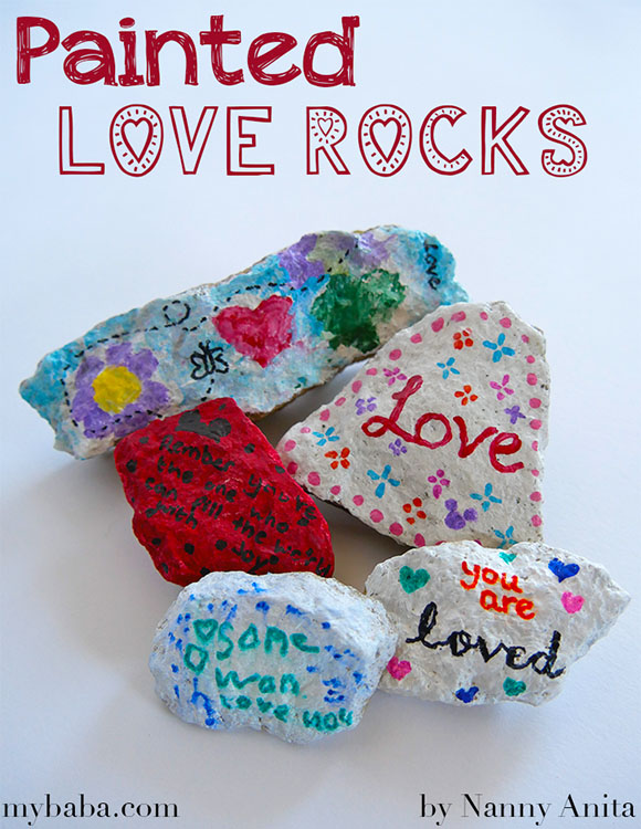 Spread the love by making and hiding these painted love rocks in your local area.