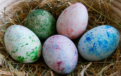 How to dye eggs using rice