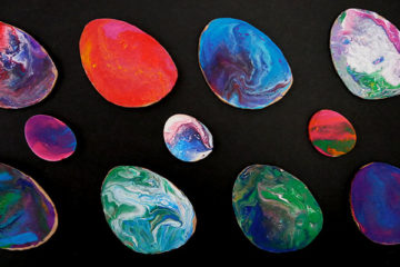 fluid painted eggs