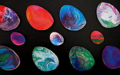 fluid painted eggs