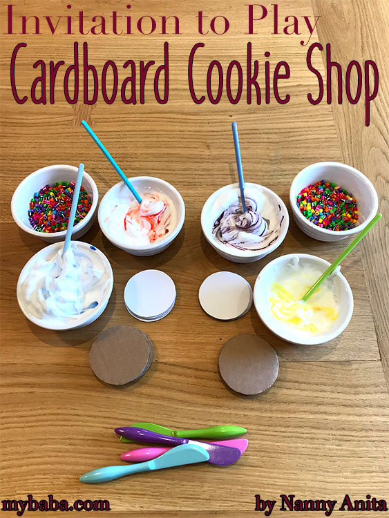 An invitation to play: cardboard cookie shop