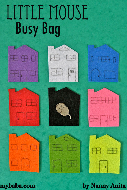 Little mouse busy bag great for learning colours