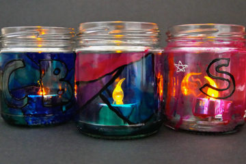 stained glass night light jars