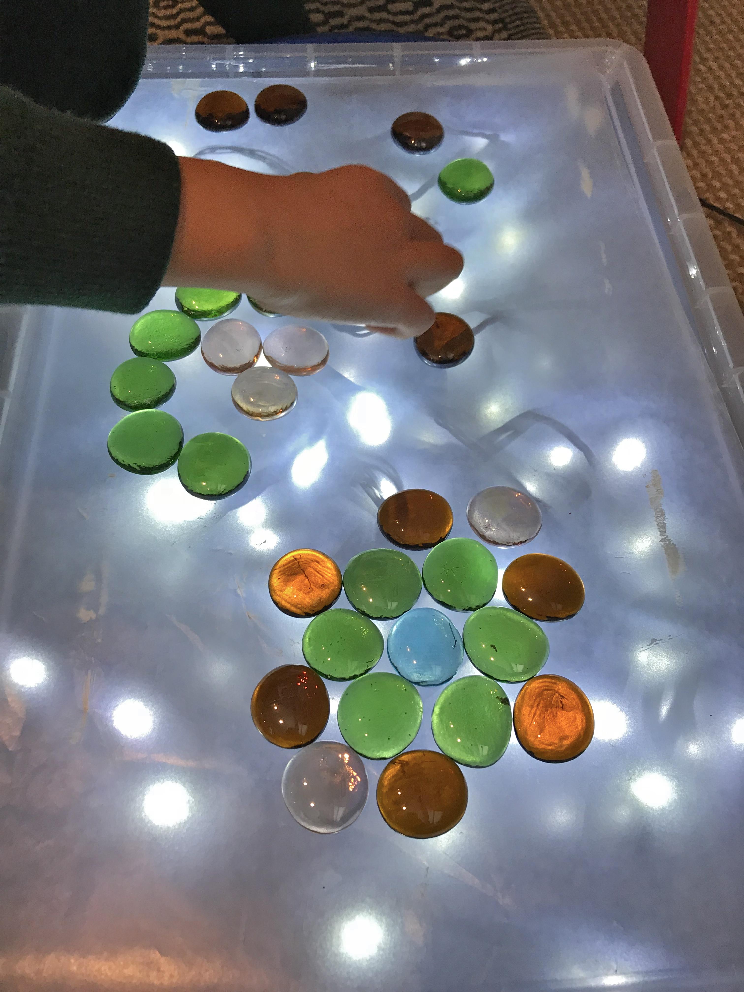 glass pebble mandalas