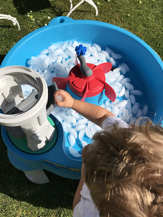 Ice play for toddlers