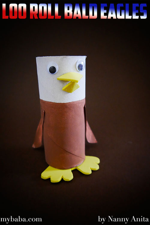 celebrate July 4th by making some loo roll Bald Eagles.