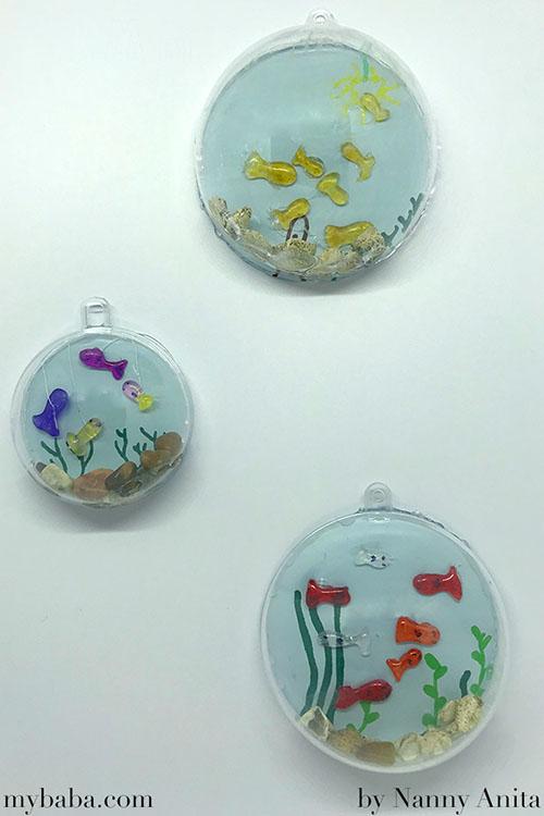 Mini bauble fish tank - kids craft