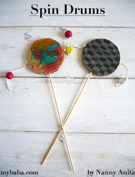 How to make a spin drum for toddlers and preschoolers