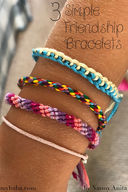 Learn how to make 3 simple friendship bracelets