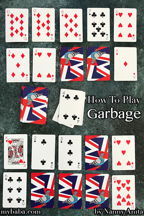 how to play garbage the card game. Great for playing with children when passing the time.