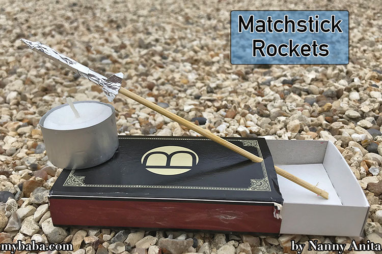 Make matchstick rockets with a few house hold items in this stem activity for kids.
