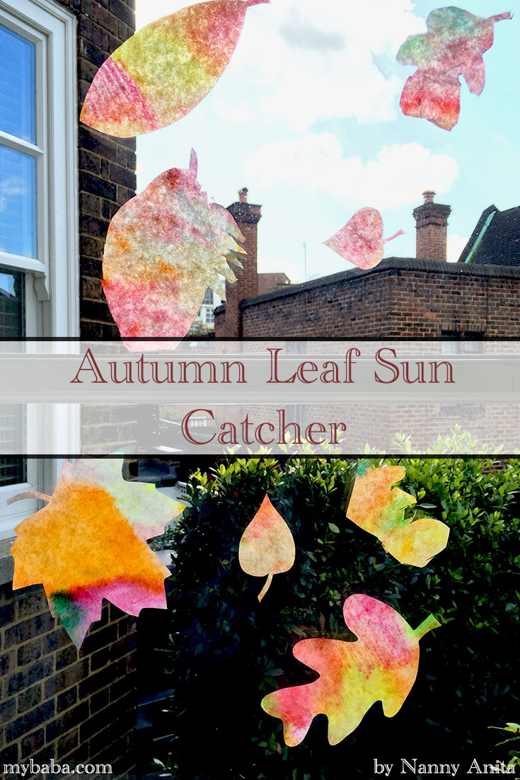 autumn leaf sun catchers