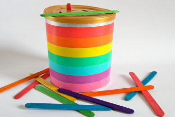 Craft stick posting activity