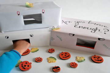 Halloween feely boxes