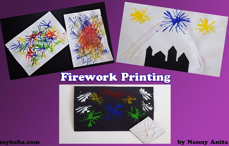 Firework Printing Painting