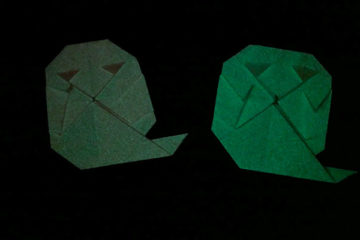 origami ghosts