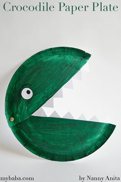 Crocodile Paper Plate