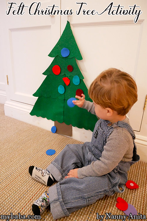 Felt christmas tree activity for toddlers.