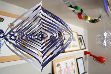 Paper spiral decorations
