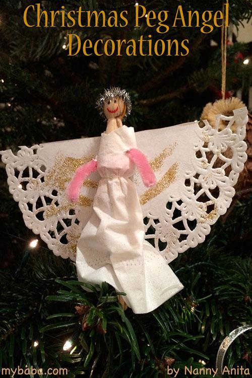 Christmas peg angels