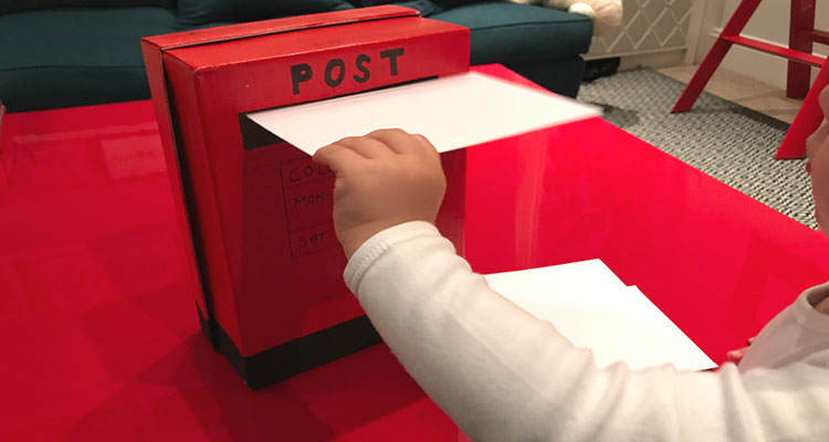 christmas letter posting activity