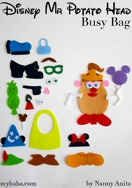 Make your own Disney Mr. Potato Head Busy Bag.