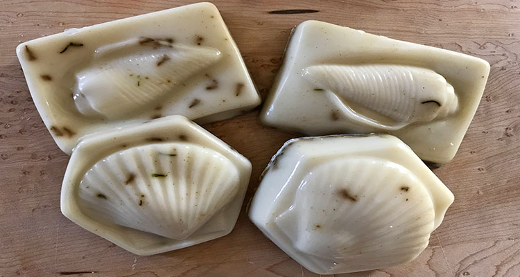 Shea butter coconut and lavender soap