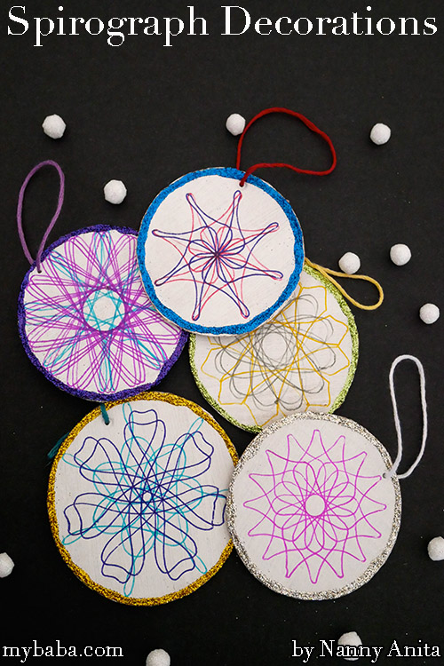Spirograph Christmas Tree Decorations