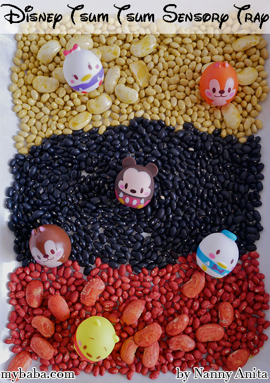 Mickey Mouse Sensory Tray for toddlers.