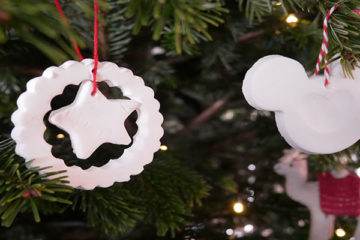 white clay decorations