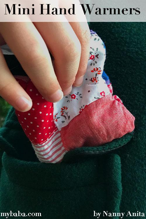 DIY mini hand warmers to help keep cold hands warm during winter.